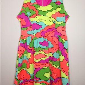 Nanette Lepore bright sleeveless dress